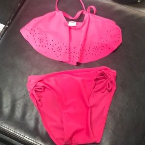 Old Navy 5T flutter top bikini, washed never worn